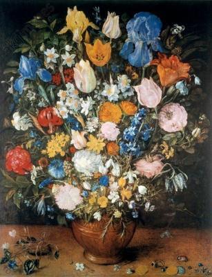 Bouquet fleurs bruegel