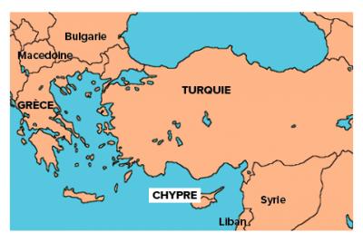 Chypre carte mediterrannee