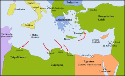 Guerre italo ottomane carte