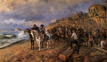 Napoleon regardant vers l angleterre