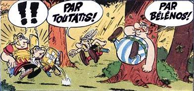 Toutatis et belenos asterix